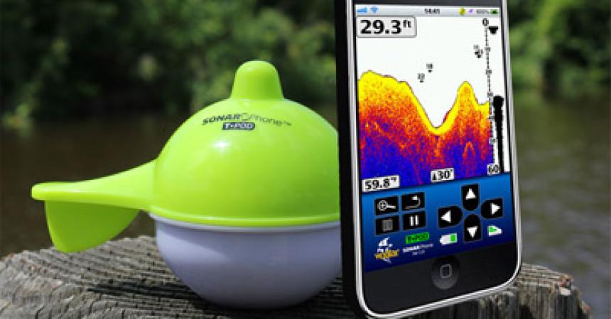 Vexilar Sonarphone on phone